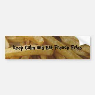 Eat French Fries Bumper Sticker