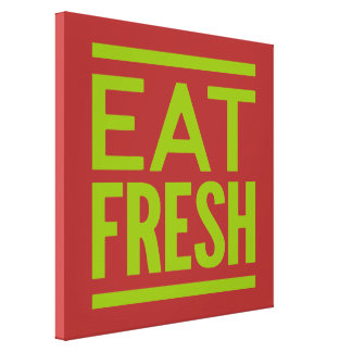 Eat Fresh - Brown Background Canvas Print
