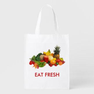 EAT FRESH VEGGIES and FRUITS BAG