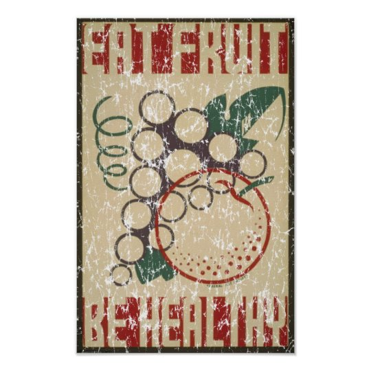 Eat Fruit - 1938 - distressed Poster