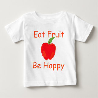 Eat Fruit, Be Happy with Big Crunchy Red Apple Infant T-shirt