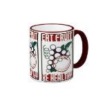 Eat Fruit - Be Healthy - WPA Poster - Ringer Coffee Mug