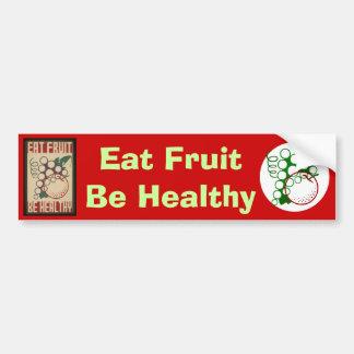 Eat fruit bumper sticker car bumper sticker