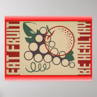 Eat fruit poster