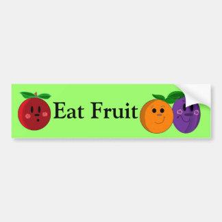 Eat Fruit Smiley Faces Bumper Sticker