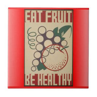 Eat fruit tile