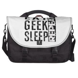 Eat, Geek, Sleep, Repeat Laptop Bag