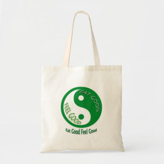 Eat Good Feel Diet and Weight Loss Budget Tote Bag