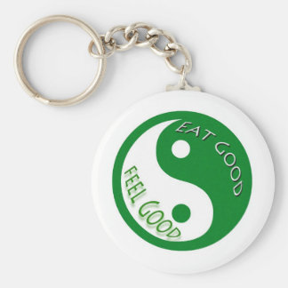 Eat Good Feel Diet and Weight Loss Keychain