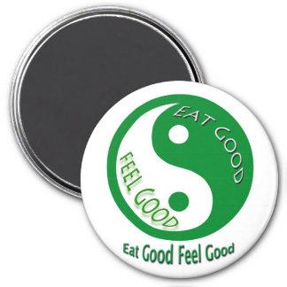 Eat Good Feel Good Diet Motivational Health 3 Inch Round Magnet