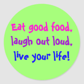 Eat Good Food Stickers