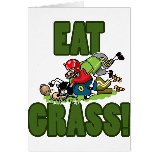 EAT GRASS CARD