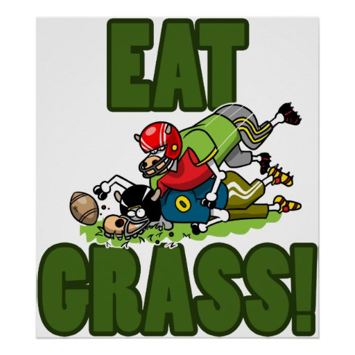 EAT GRASS POSTER
