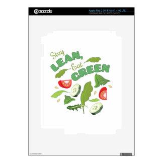 Eat Green iPad 3 Skin