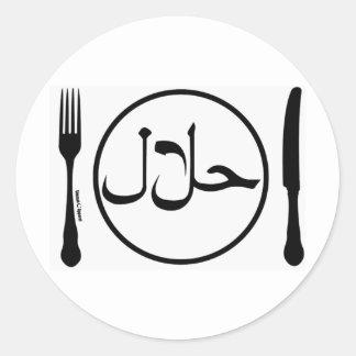 Eat Halal Classic Round Sticker