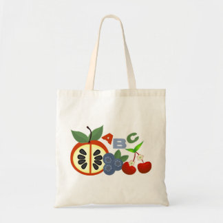 Eat Healthy Alphabet Fruit Tote Bag