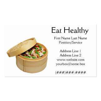 Eat Healthy Business Card