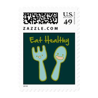 Eat Healthy Doodle Art Postage