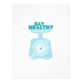 Eat Healthy Customized Letterhead