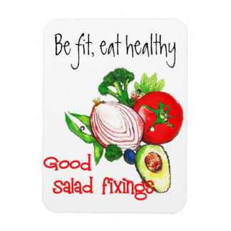 Eat Healthy Magnet with Vegetables by artist