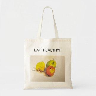 EAT HEALTHY SHOPPING BAG (APPLES)