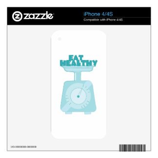 Eat Healthy Decal For iPhone 4