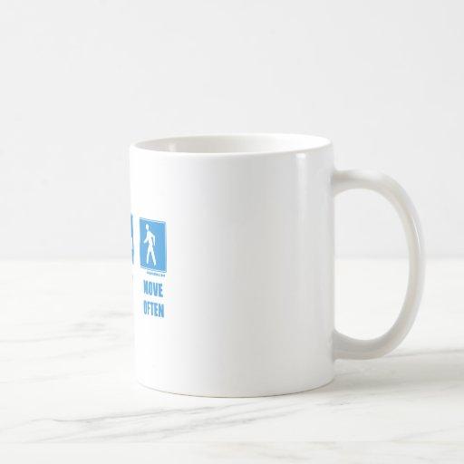 Eat healthy, sleep well, move often mugs