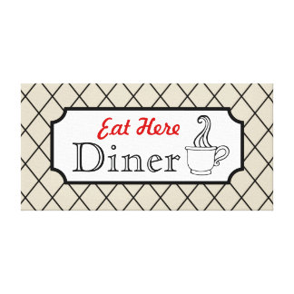 Eat Here Diner Canvas