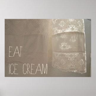Eat ice cream poster