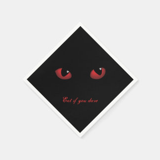 Eat if you Dare Red Eyes Paper Napkin