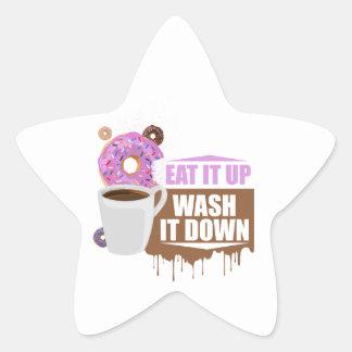 Eat It Up - Wash It Down Star Sticker