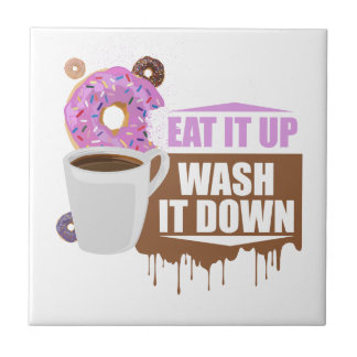 Eat It Up - Wash It Down Small Square Tile