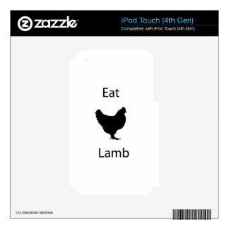 Eat lamb iPod touch 4G skins