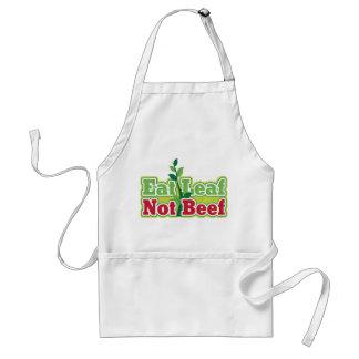 Eat Leaf Not Beef Adult Apron
