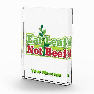 Eat Leaf Not Beef Award