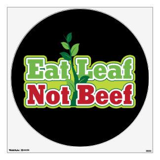 Eat Leaf Not Beef Wall Sticker