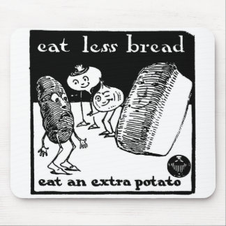 Eat Less Bread World War I illustration Mousepad