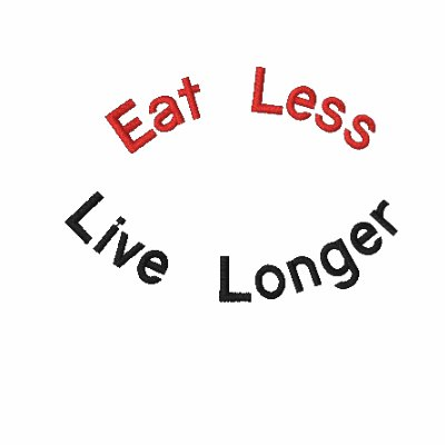 Eat Less, Live Longer Embroidered Shirt