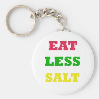 EAT LESS SALT KEYCHAIN