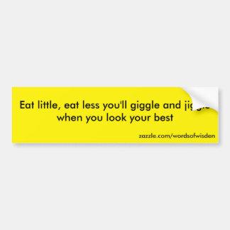 Eat little car bumper sticker