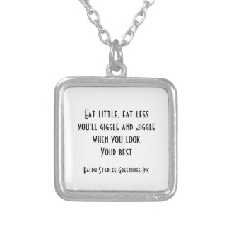 Eat little silver plated necklace