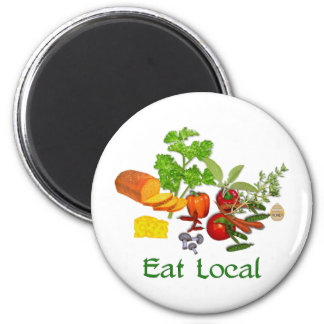 Eat Local 2 Inch Round Magnet