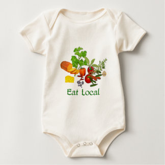 Eat Local Baby Bodysuit