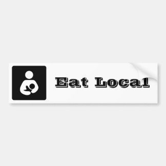 Eat Local Breastfeeding / Nursing Icon Bumper Sticker