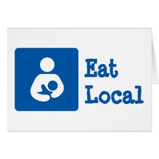 Eat Local / Breastfeeding / Nursing Icon Card
