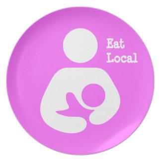Eat Local Breastfeeding / Nursing Icon Dinner Plate