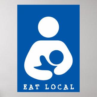 Eat Local / Breastfeeding / Nursing Icon Poster