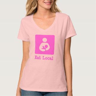 Eat Local Breastfeeding / Nursing Icon Shirts