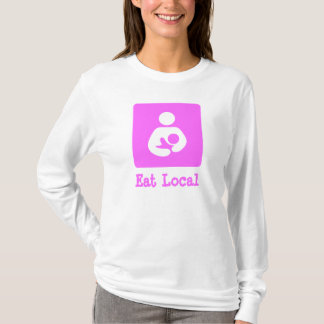 Eat Local Breastfeeding / Nursing Icon T-Shirt