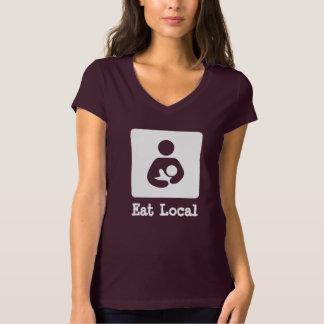 Eat Local Breastfeeding / Nursing Icon T-Shirt